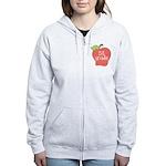 1st Grade Apple Women's Zip Hoodie