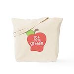 1st Grade Apple Tote Bag