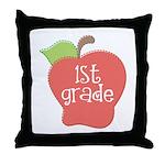 1st Grade Apple Throw Pillow