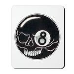 Skull Eight Ball Mousepad