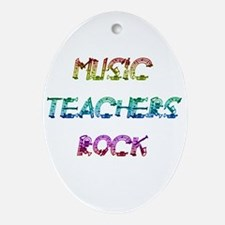 Cute Music teaching Oval Ornament