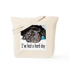 Cute Black pug Tote Bag