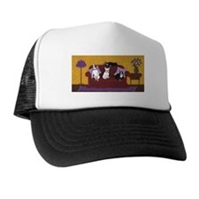Hart Dogs on Couch Original Trucker Hat