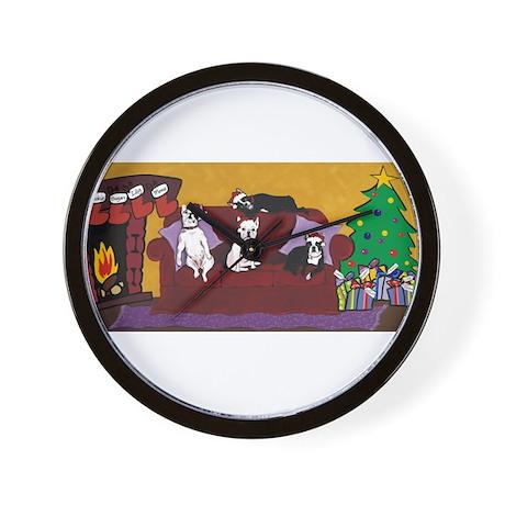 Hart Dogs Christmas Design Wall Clock