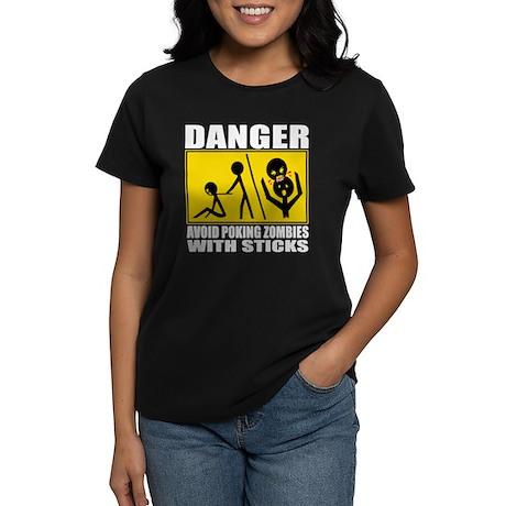 Zombie Warning Women's Dark T-Shirt