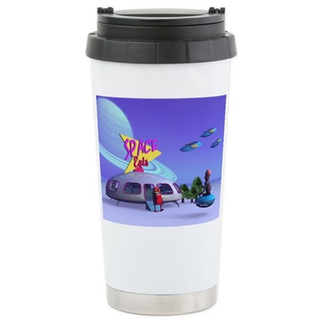 Space Eats Cafe Stainless Steel Travel Mug