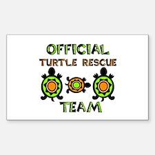Turtle Rescue Rectangle Sticker 10 pk)