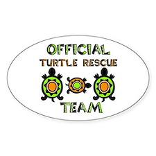 Turtle Rescue Oval Bumper Stickers
