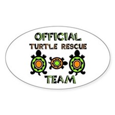 Turtle Rescue Oval Decal