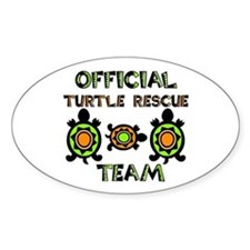 Turtle Rescue Oval Stickers