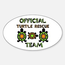 Turtle Rescue Oval Sticker (10 pk)