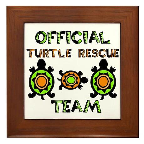 Turtle Rescue Framed Tile