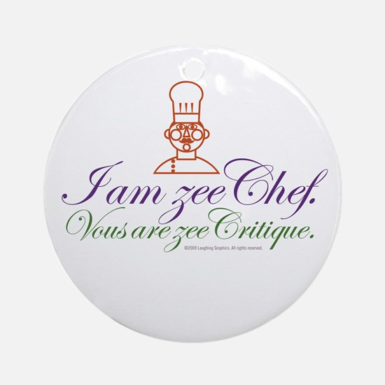 Zee Chef Ornament (Round)