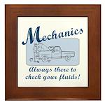 Funny Mechanics Framed Tile