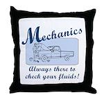 Funny Mechanics Throw Pillow