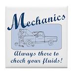 Funny Mechanics Tile Coaster