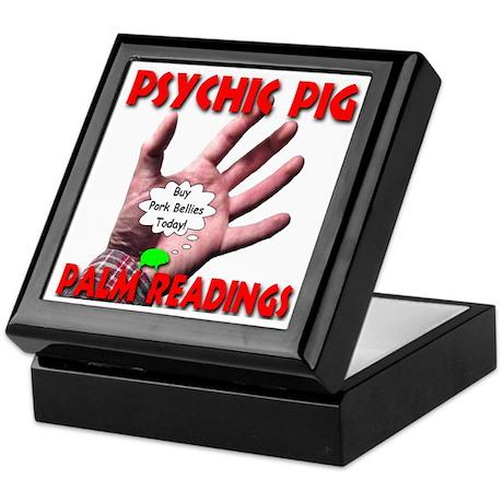 Psychic Pig Palm Readings Keepsake Box