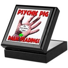 Psychic Pig Palm Readings Keepsake Box