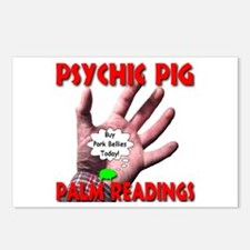 Psychic Pig Palm Readings Postcards (Package of 8)