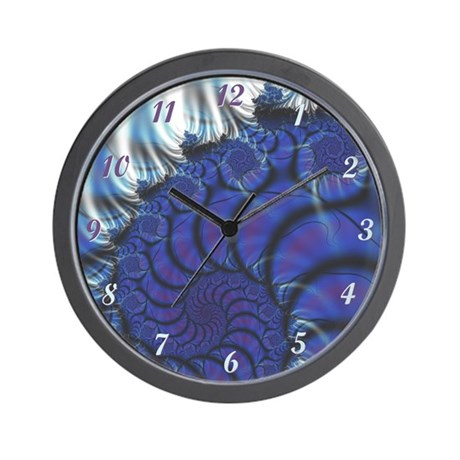 Midnight Flares Fractal Wall Clock