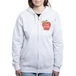 2nd Grade Apple Women's Zip Hoodie