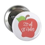"""2nd Grade Apple 2.25"""" Button"""