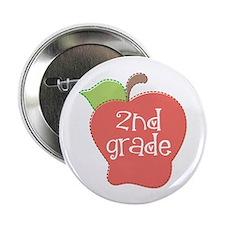 """2nd Grade Apple 2.25"""" Button (10 pack)"""