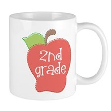2nd Grade Apple Small Mug