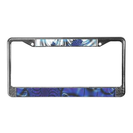 Midnight Flares Fractal License Plate Frame