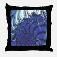 Midnight Flares Fractal Throw Pillow