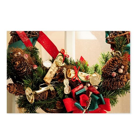 Musical Happy Holidays Postcards (Package of 8)