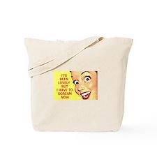 Scream Now Tote Bag