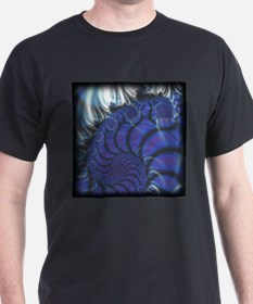 Midnight Flares Fractal Black T-Shirt