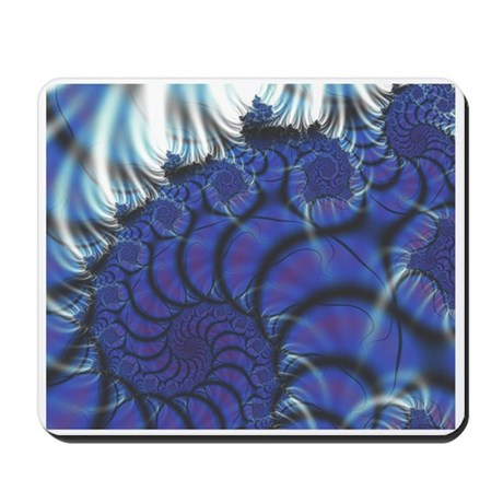 Midnight Flares Fractal Mousepad