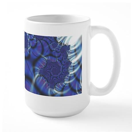 Midnight Flares Fractal Large Mug