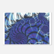 Midnight Flares Fractal Postcards (Package of 8)