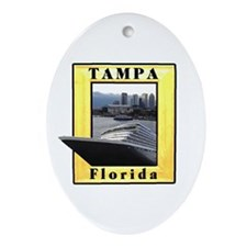 Tampa , Florida cruise ship Oval Ornament