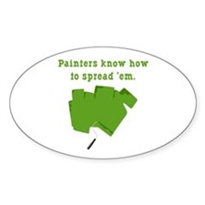 Funny Painters Oval Decal