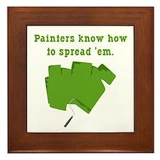Funny Painters Framed Tile