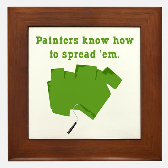 Funny Painters Framed Tile