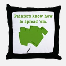 Funny Painters Throw Pillow