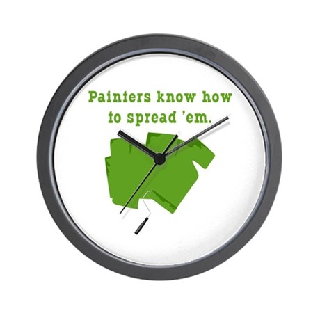 Funny Painters Wall Clock
