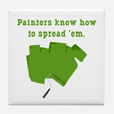 Funny Painters Tile Coaster
