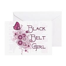 Black Belt Girl Greeting Card