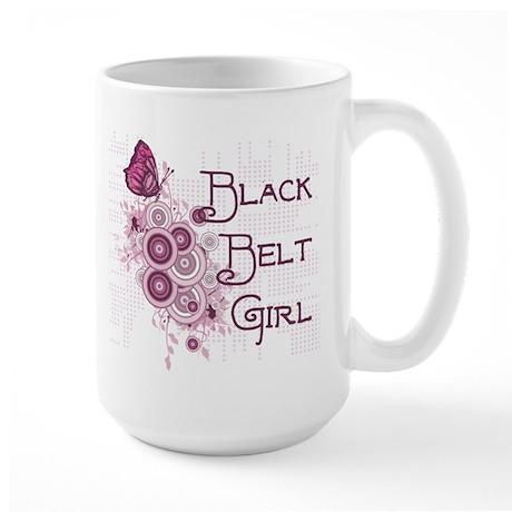 Black Belt Girl Large Mug