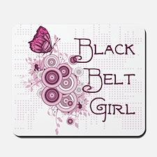 Black Belt Girl Mousepad