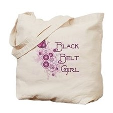 Black Belt Girl Tote Bag