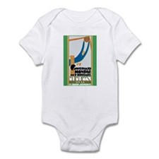 Cute Uruguay football Infant Bodysuit