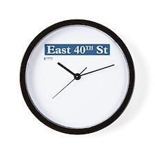 East 40th Street in NY Wall Clock