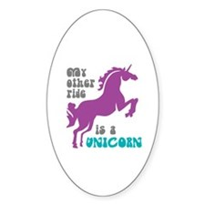 Unicorn Ride Oval Decal